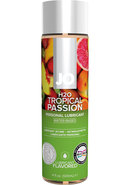Jo H2o Water Based Flavored Lubricant Tropical Passion 4oz