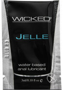 Wicked Jelle Water Based Anal Lubricant 0.10oz (144 Per Bag)