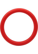 Rubber Cock Ring 1.5 Inch Red