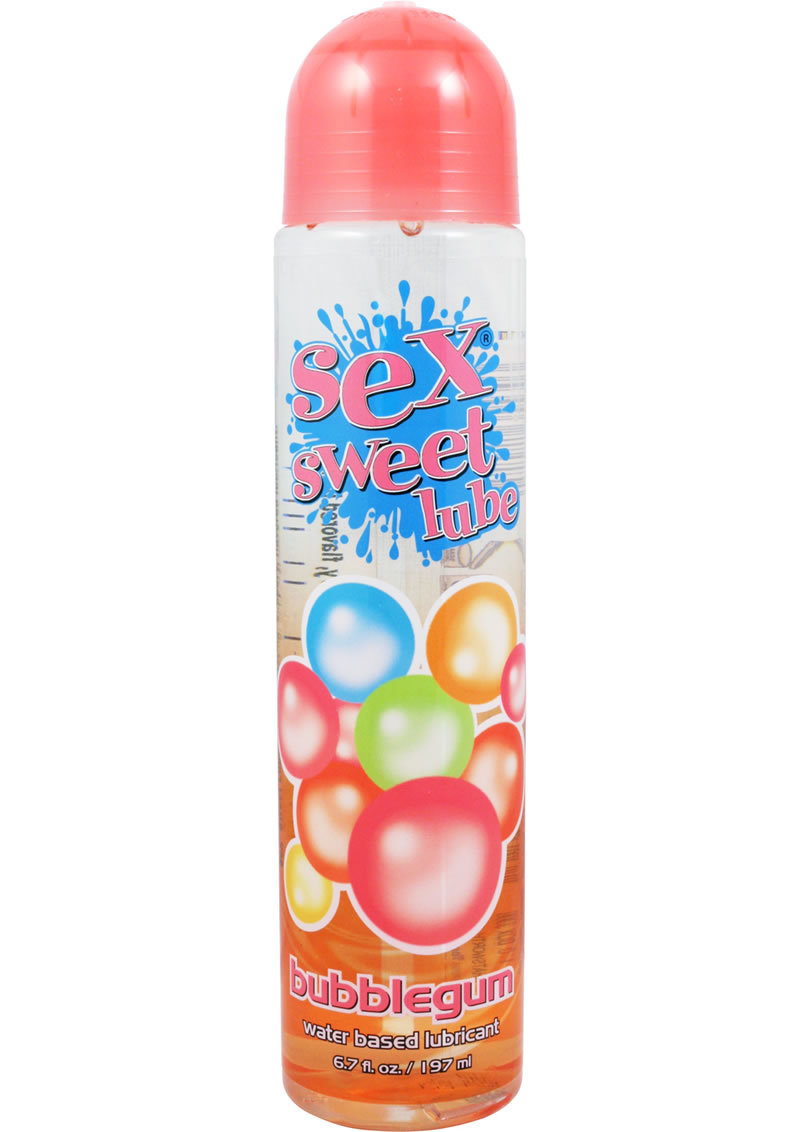 Sex Sweet Lube Flavored Water Based Lubricant Bubble Gum 6.7 Ounce