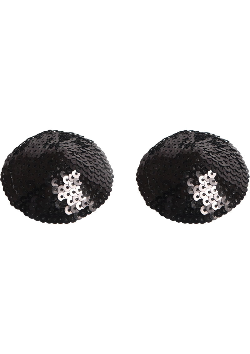 Bijoux Indiscrets Body Decorations Burlesque Pasties Sequin Black